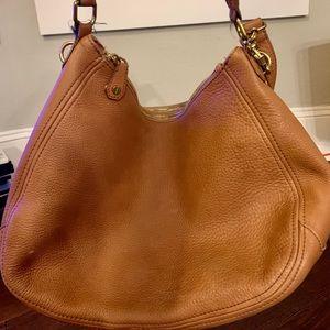 JCrew Brown Leather Slouch Shoulder Bag